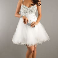 Short White Prom Dress by Dave and Johnny