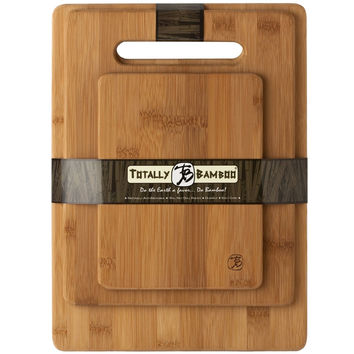 Bamboo 3 Set Piece Cutting Board Totally New Kitchen Wood Chopping Boards