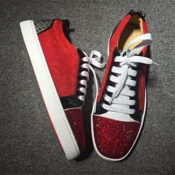 PEAPUX5 Cl Christian Louboutin Low Style #2040 Sneakers Fashion Shoes