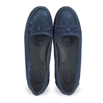 Juno - Navy Suede MOC (sizes only 7.5,  8,  9 )