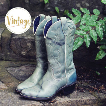 Misty Morning Vintage Cowboy Boots
