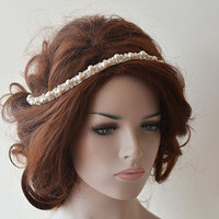 Bridal Headband, Rhinestone and Pearl Headbands,  Bridal Headpieces, Bridal Accessories, Wedding hair Accessory