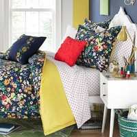 Teen Vogue Folksy Floral Reversible Comforter Set (Blue)