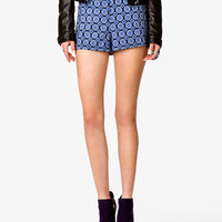 High-Waisted Scarf Print Shorts