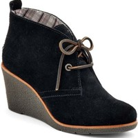 Sperry Top-Sider Harlow Wedge Bootie BlackSuede, Size 9M  Women's Shoes