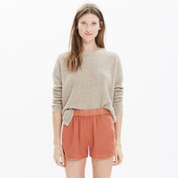 Linen-Cotton Pull-On Shorts