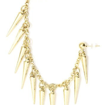 Spikes Stud Earring Ear Cuff Metal Wrap Gold Tone CB33 Chandelier Earring Fashion Jewelry