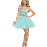 Mint Beaded Chiffon Sweetheart Dress 2015 Prom Dresses