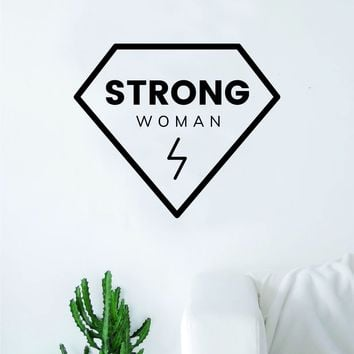 Strong Woman Diamond Girl Power Wall Decal Sticker Vinyl Art Bedroom Living Room Decor Decoration Teen Quote Inspirational Motivational Cute Lady Feminism Feminist Empower Grl Pwr Love Beautiful
