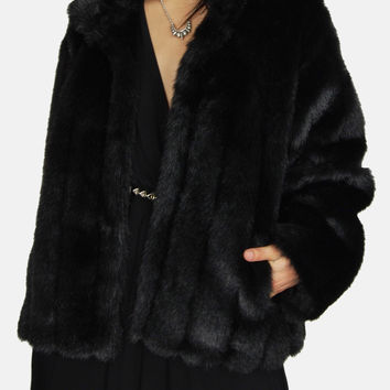 One Of These Nights Faux Fur Mink Jacket