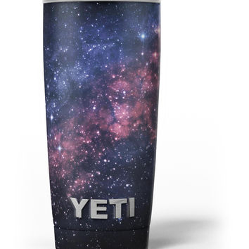 Subtle Pink Glowing Space Yeti Rambler Skin Kit