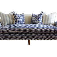 "Annelise 84"" Sofa, Indigo Batik/Cream - Sofas & Settees - Living Room - Furniture 