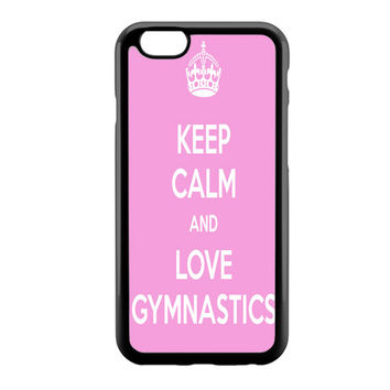 keep calm and love gymnastics pink iPhone 6 Case