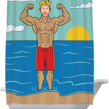 In The Buff Shower Curtain