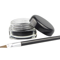 1Pcs Brand New Black Long-lastingt Eye Liner Eyeliner Gel Makeup Cosmetic Eyeliners With Brush