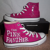 Pink Panther Converse All Stars by CustomConverseUK on Etsy