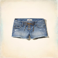 Hollister Low Rise Lace-Up Short-Short