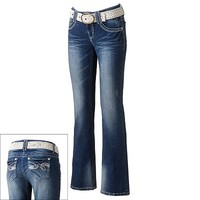 Wallflower Luscious Curvy Bootcut Jeans - Juniors