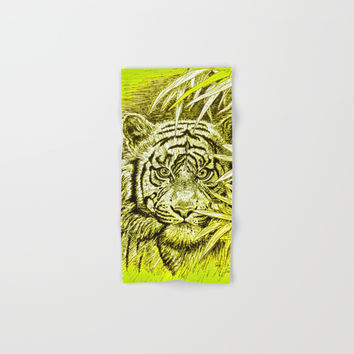 tiger - king of the jungle Hand & Bath Towel by GittaG74