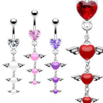 Belly Ring-Tier of Hearts