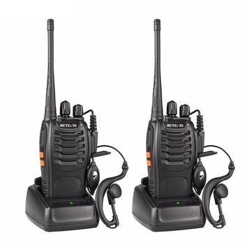 Portable 2pcs Retevis H777 Walkie Talkie 400-470MHz Radio Set