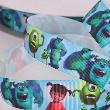 Disney Monsters Inc Printed Grosgrain Sewing Craft Ribbon