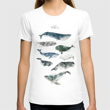 Whales T-shirt by Amy Hamilton
