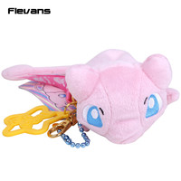 Anime Cartoon Pokemon Mew Plush Toys with keychain Pendant Soft Stuffed Dolls 15cm