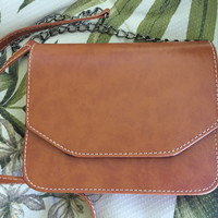 NEW Brown Leather Cross Body Purse