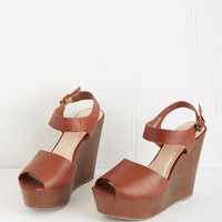 ModCloth Vintage Inspired Runway with You Wedge