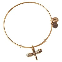 Alex and Ani Dragonfly Charm Bangle - Russian Gold