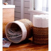 """Threshold™ Color Block Round Woven Basket - 15x15"""""""