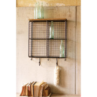 Wire Mesh Cubbies with Wood Top