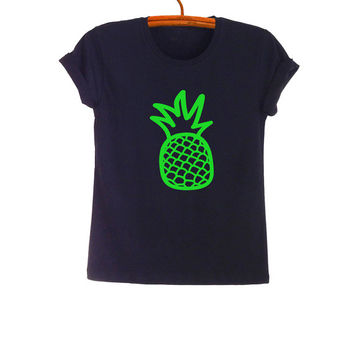 Pineapple T Shirt Top Teen Fashion Funny Saying Tumblr Womens Girls Mens Gifts Sassy Cute Neon Green Teenager Student College High School