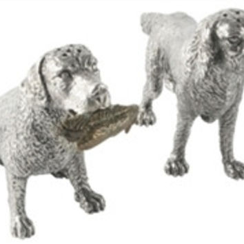 Pewter Hunting Dogs Salt and Pepper Shaker