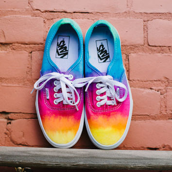 d5f84985cd64 Tie dye custom Vans shoes by DoYouDreamOutLoud on Etsy