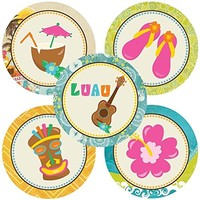 Luau Party Sticker Labels - Set of 50