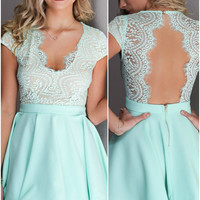 Prom Queen Mint Cocktail Dress