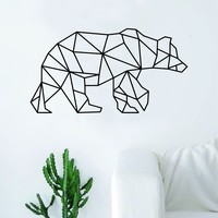 Geometric Bear Animal Design Decal Sticker Wall Vinyl Decor Art Living Room Bedroom Abstract Cool Teen Animal