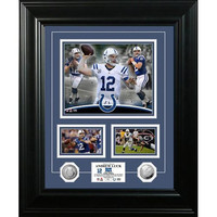 Andrew Luck inMarqueein Silver Coin Photo Mint