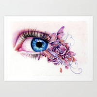 The Soul Would Have No Rainbow If The Eyes Had No Tears Art Print by KatePowellArt