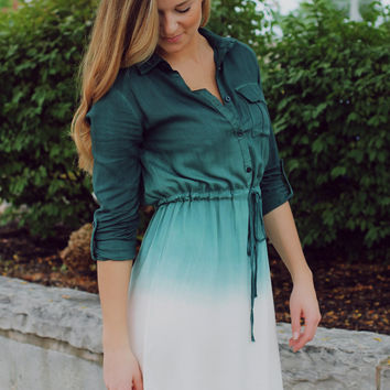 Faded Forest Dress