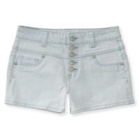 High-Waisted Light Wash Denim Shorty Shorts