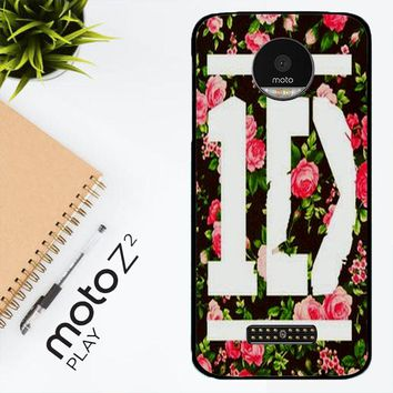 1D One Direction Floral V0288 Motorola Moto Z2 Play Case