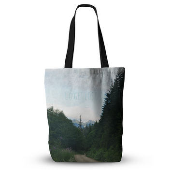 """Robin Dickinson """"Go Get Lost"""" Forest Green Everything Tote Bag"""