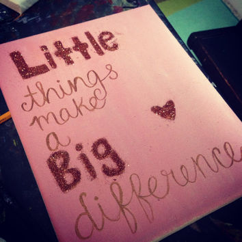 Big/Little Glitter Sorority Canvas