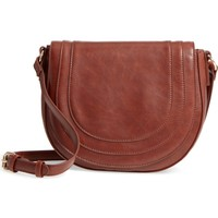 Sole Society Faux Leather Saddle Bag | Nordstrom