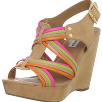 Steve Madden Women's Tampaa Wedge Sandal,Bright Multi,9 M US