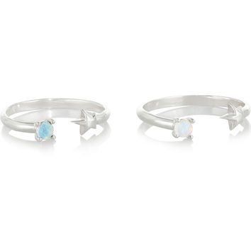 Pamela Love - Star Age set of two silver opal rings