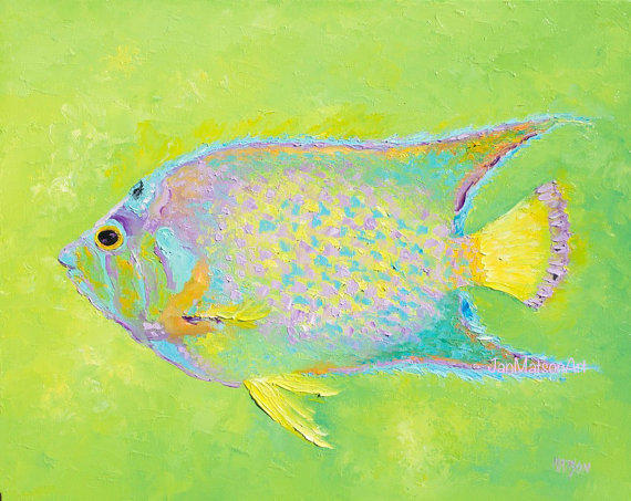 Fish Painting Tropical Fish Art Canvas From Janmatsonart